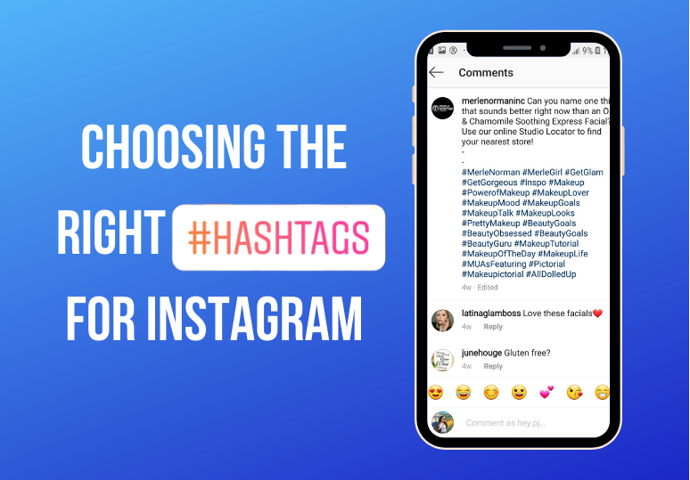 Choosing the right hashtags for Instagram