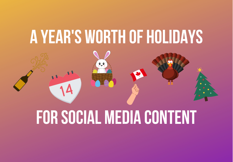 Annual Holiday Calendar for Social Media Content